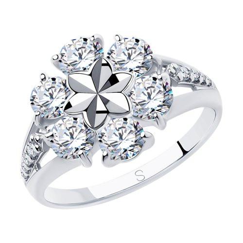Кольцо из серебра с фианитами арт кс-470