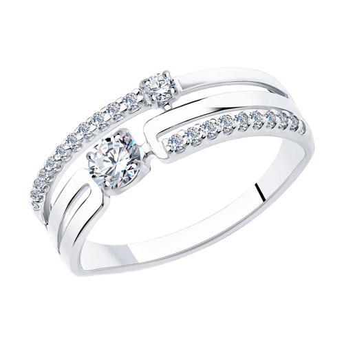 Кольцо из серебра с фианитами арт кс-474