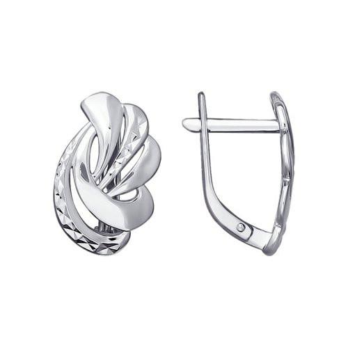 Серьги из серебра с фианитами арт сс-356