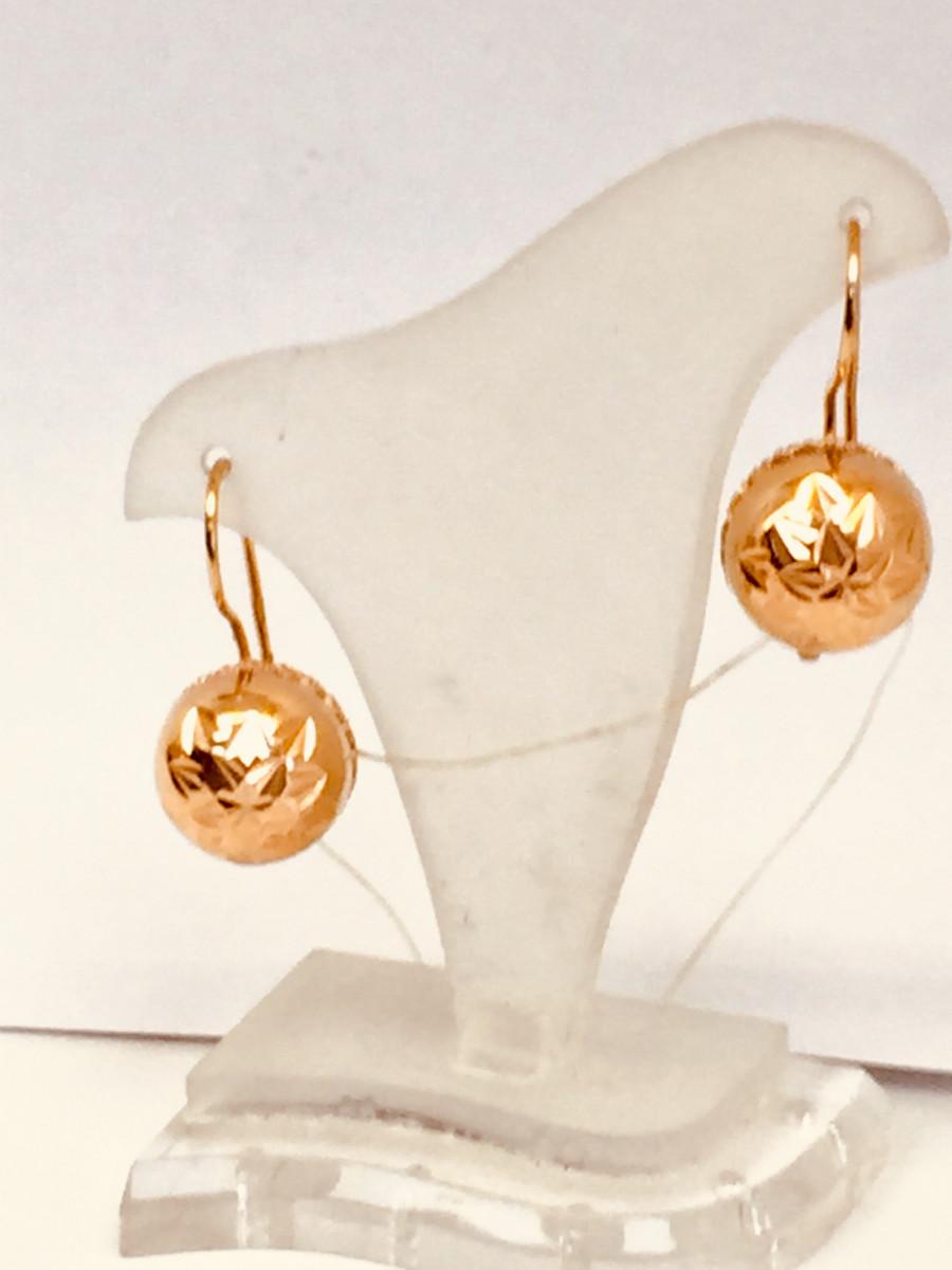 Золотые серьги арт с-1573