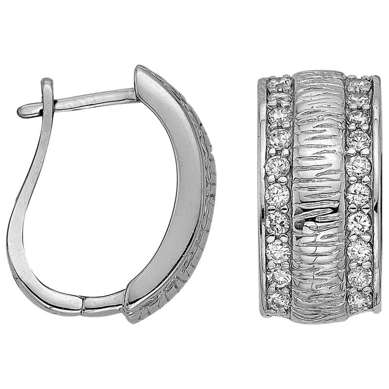 Серьги из серебра  арт срс-284