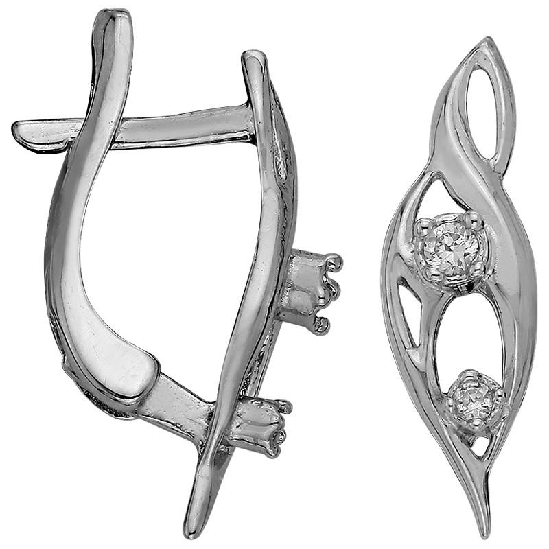 Серьги из серебра  арт срс-422