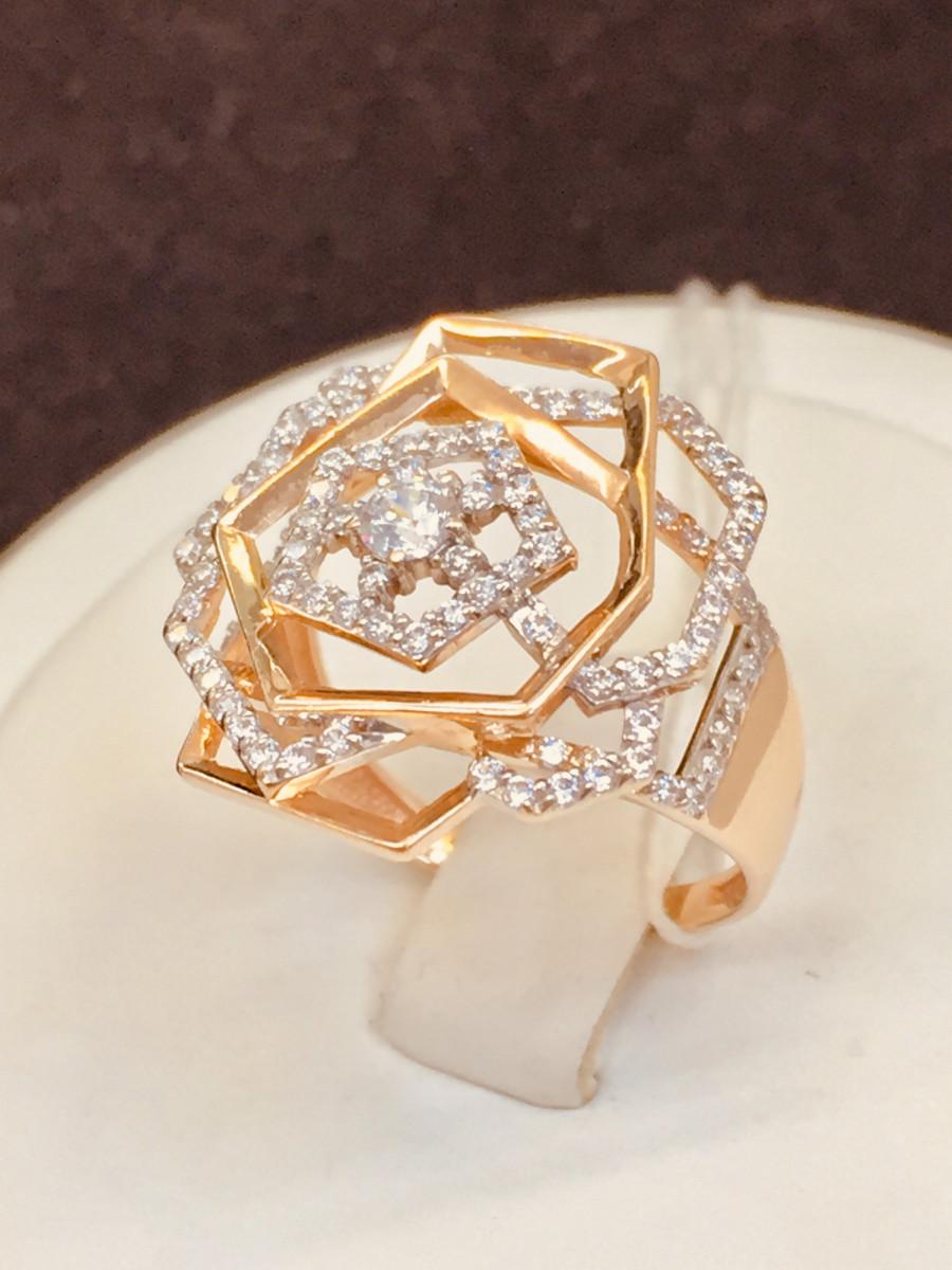 Кольцо из золота с фианитом арт к-2008