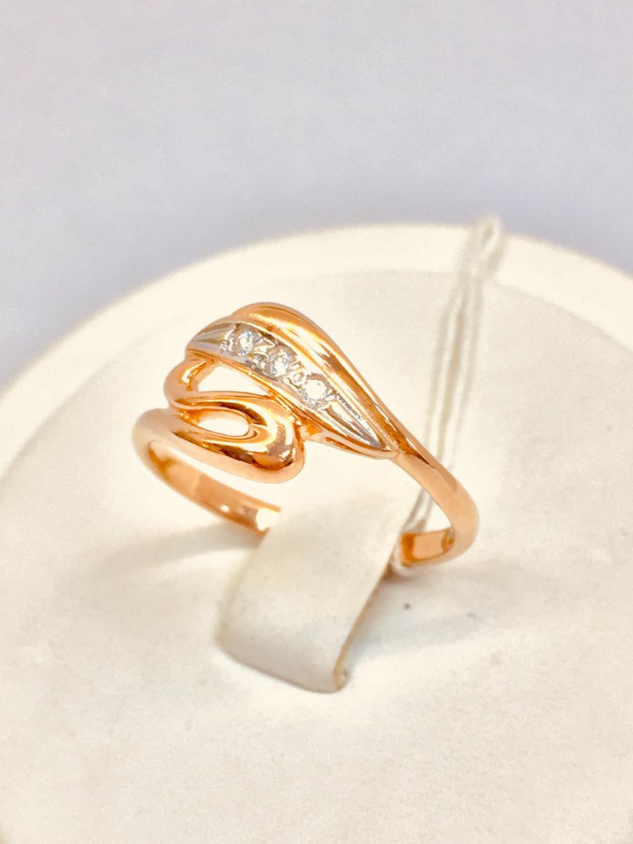 Кольцо из золота с фианитом арт к-2009