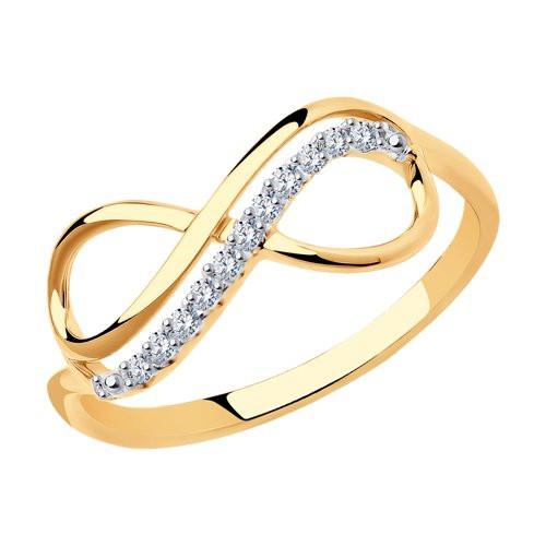 Кольцо из золота с фианитами арт к-2019