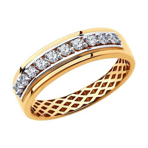 Кольцо из золота с фианитами арт к-2039