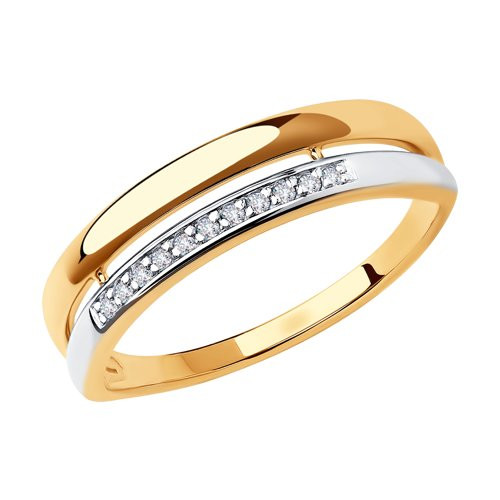 Кольцо из золота с фианитами арт к-2037
