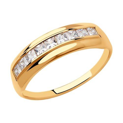 Кольцо из золота с фианитами арт к-2059