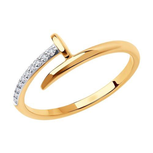 Кольцо из золота с фианитами арт к-2034