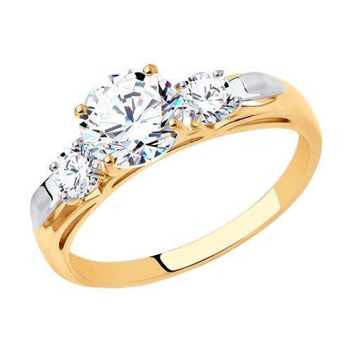 Кольцо из золота с фианитами арт к-2051