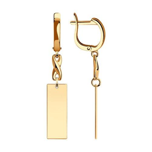 Золотые серьги арт с-1785