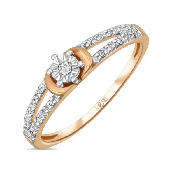 Золотое кольцо с бриллиантами  арт лбк-003
