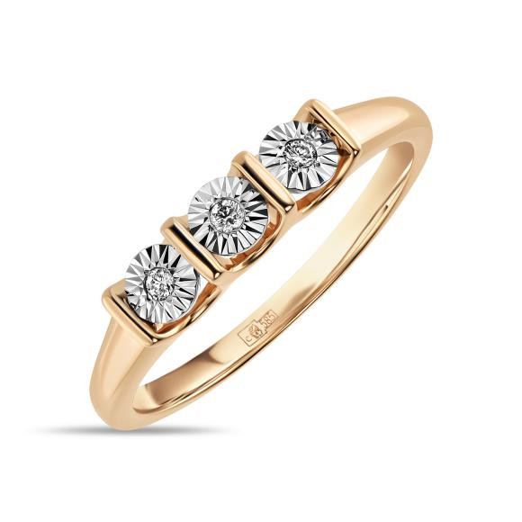 Золотое кольцо с бриллиантами  арт лбк-006