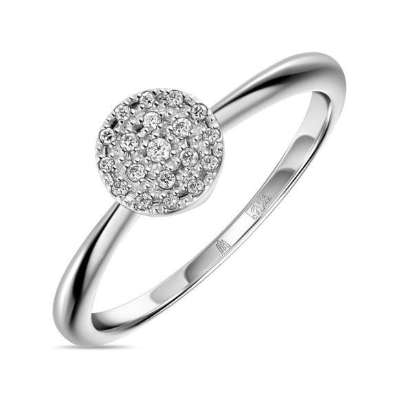 Золотое кольцо с бриллиантами  арт лбк-013