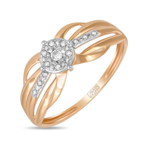 Золотое кольцо с бриллиантами  арт лбк-018