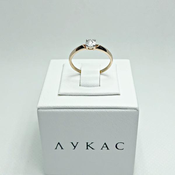 Золотое кольцо с бриллиантами  арт лбк-030