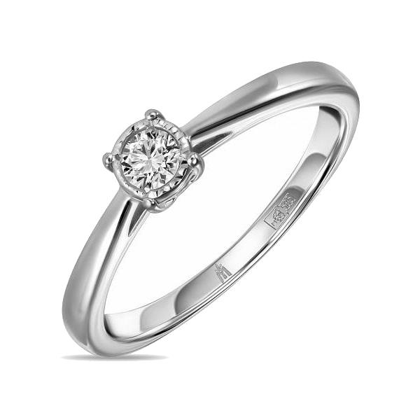Золотое кольцо с бриллиантами  арт лбк-038