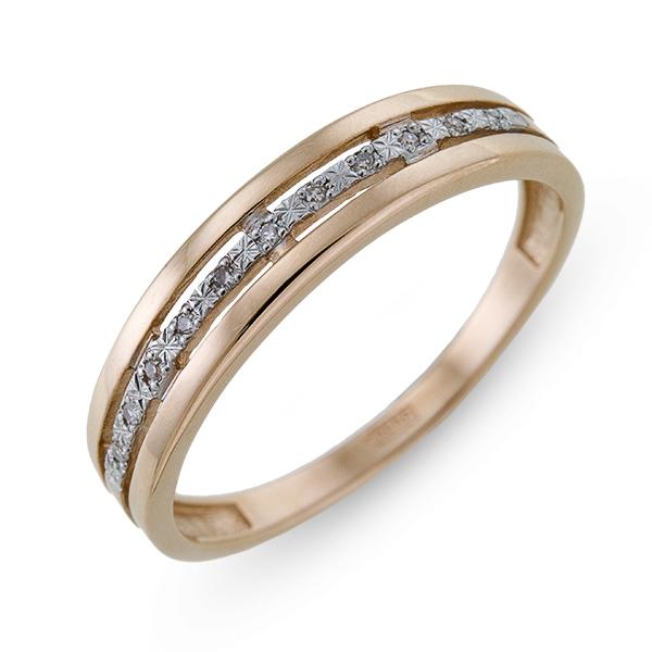 Золотое кольцо с бриллиантами  арт лбк-051
