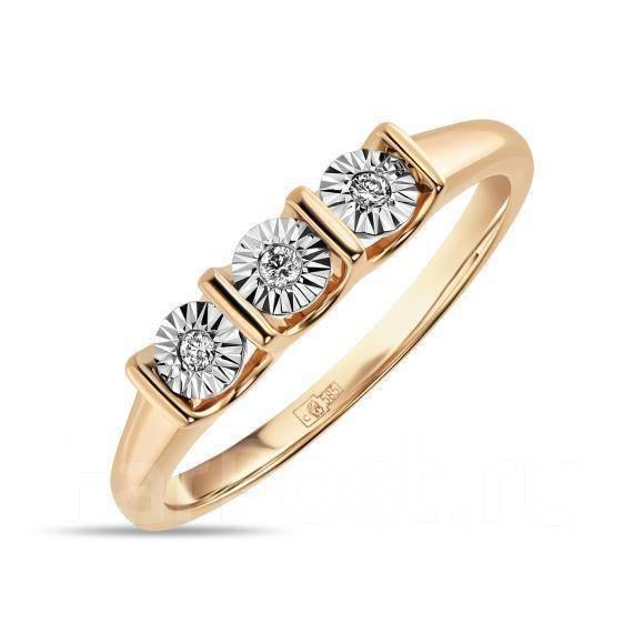 Золотое кольцо с бриллиантами  арт лбк-085