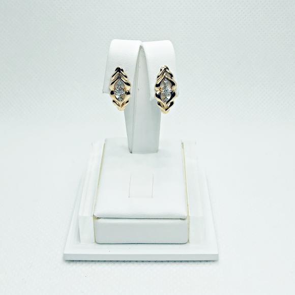 Золотые серьги с бриллиантами арт лбс-062