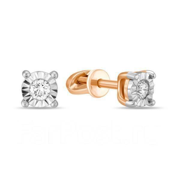 Золотые серьги с бриллиантами арт лбс-092