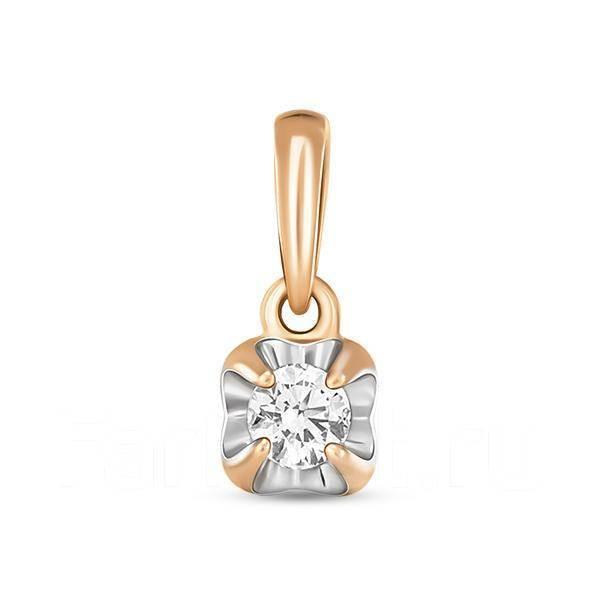 Золотая подвеска с бриллиантами арт лбп-074
