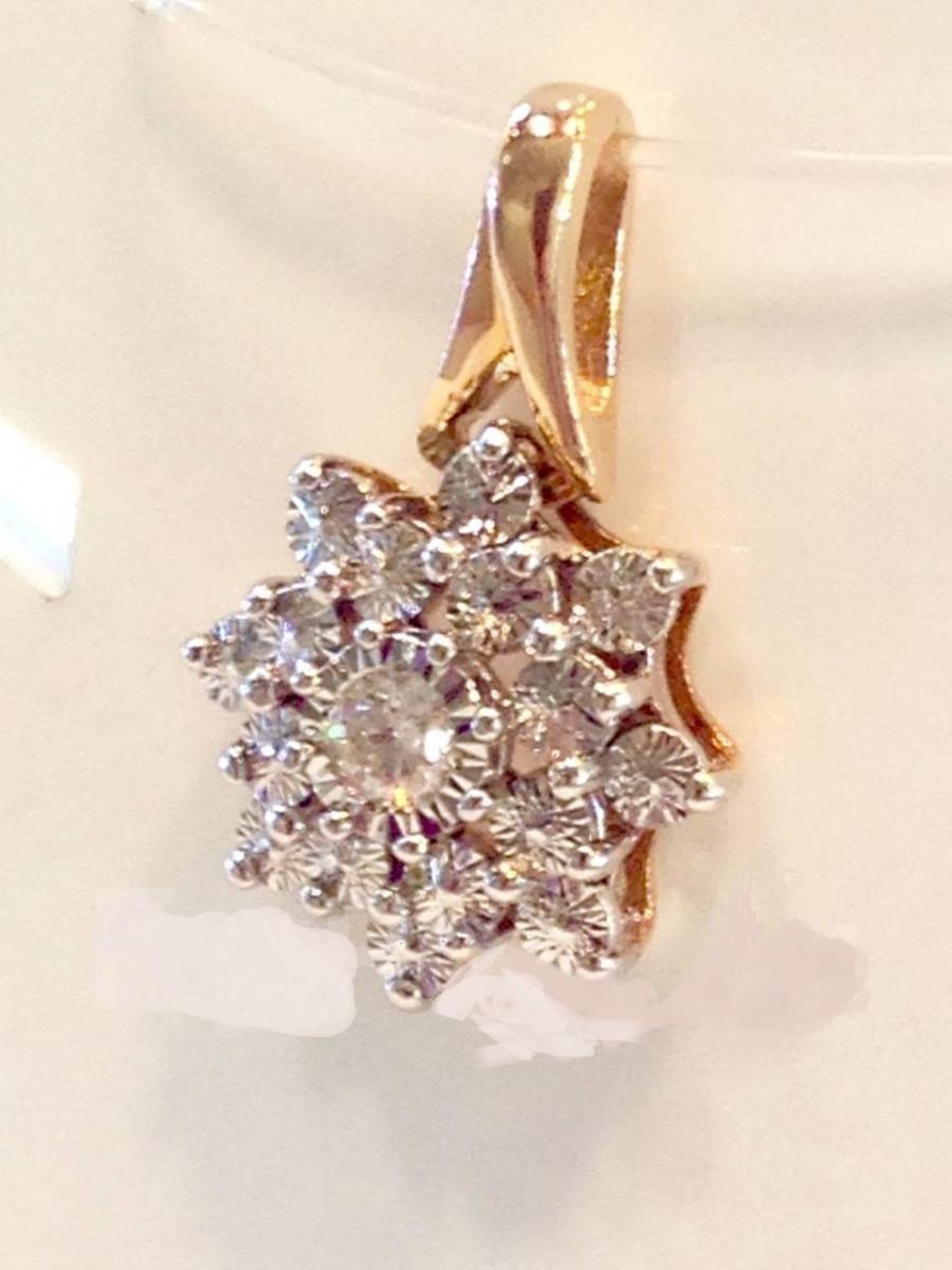 Золотая подвеска с бриллиантами арт лбп-075