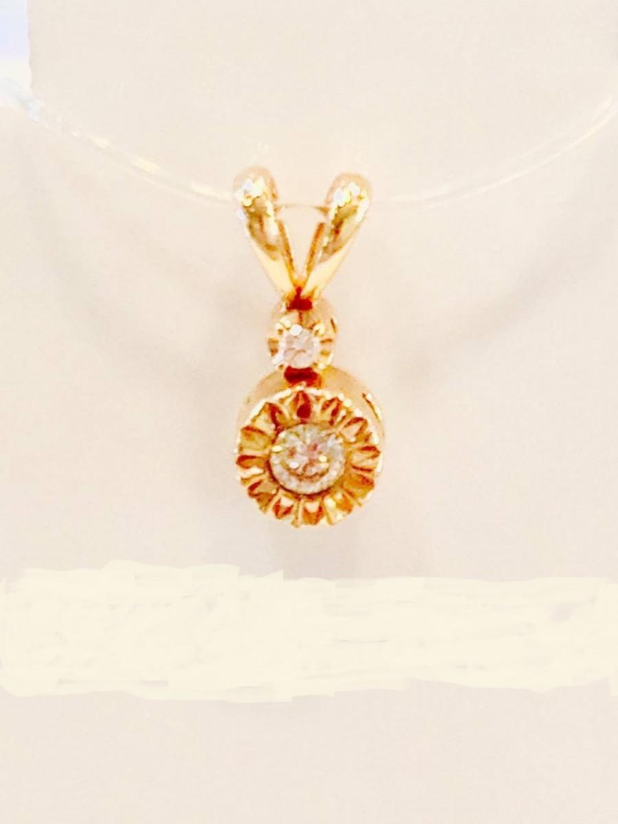 Золотая подвеска с бриллиантами арт лбп-080