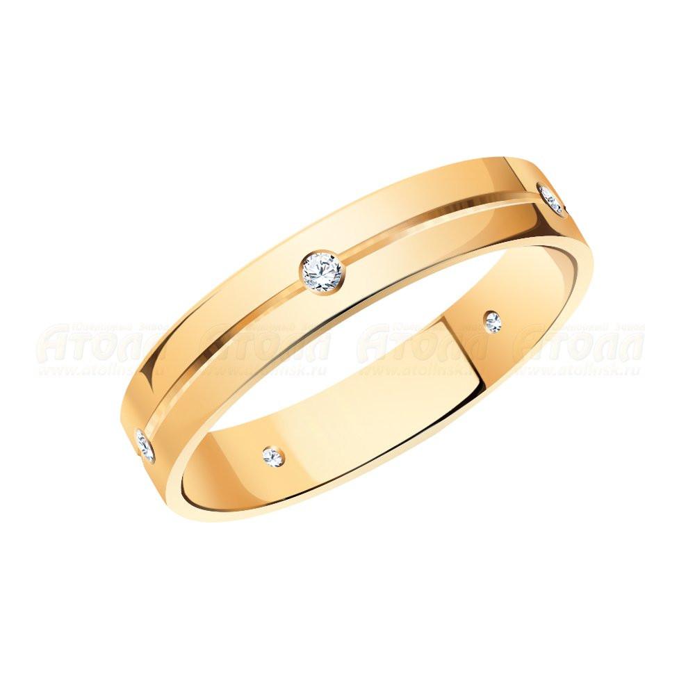 Обручальное кольцо с фианитами арт к-2071