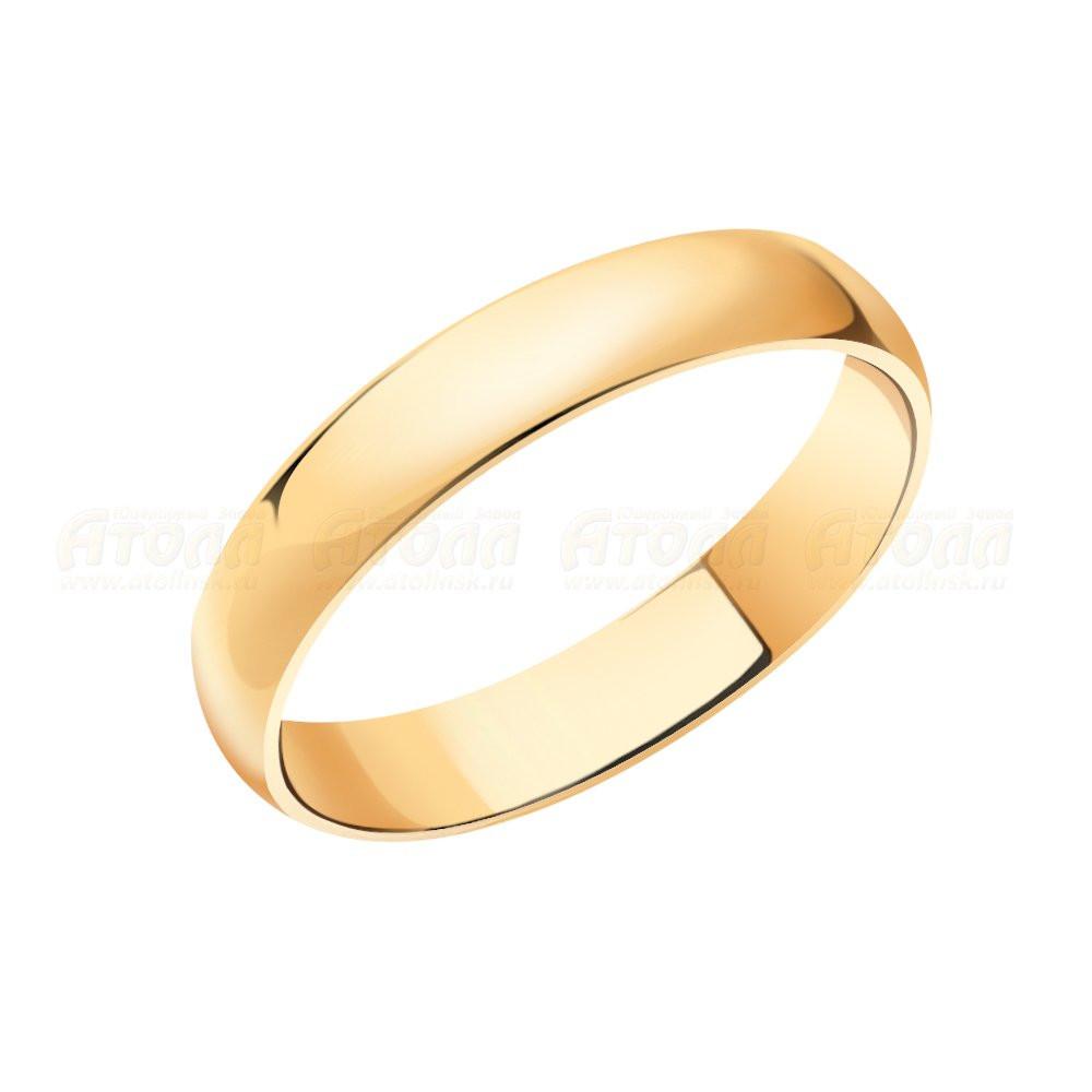 Обручальное золотое кольцо  арт кз-315