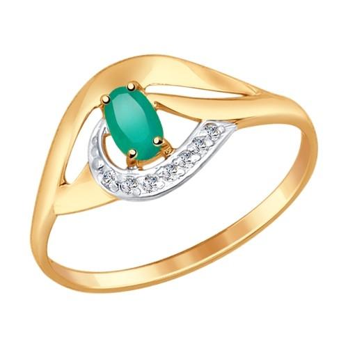 Золотое кольцо SOKOLOV арт 756