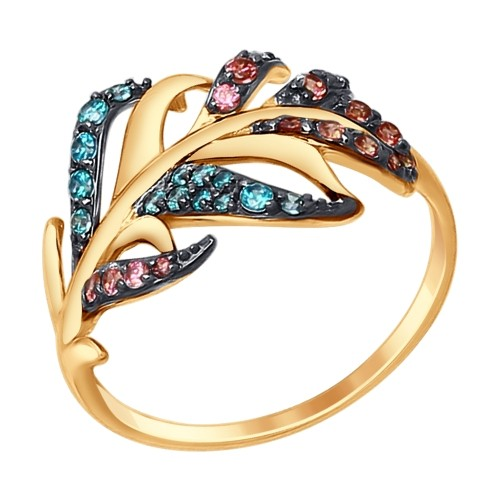 Золотое кольцо SOKOLOV арт 831