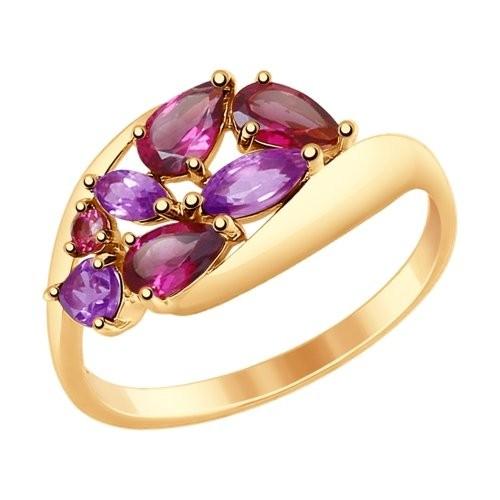 Золотое кольцо SOKOLOV арт 921