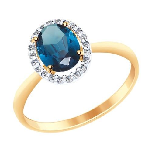 Золотое кольцо SOKOLOV арт 1125