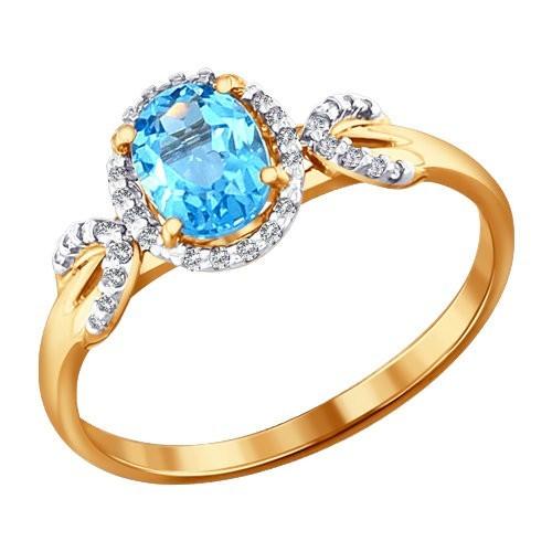 Золотое кольцо SOKOLOV арт 1126