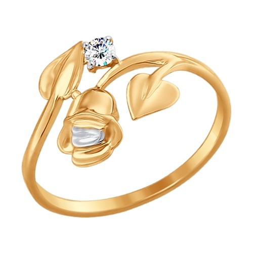 Золотое кольцо SOKOLOV арт 837