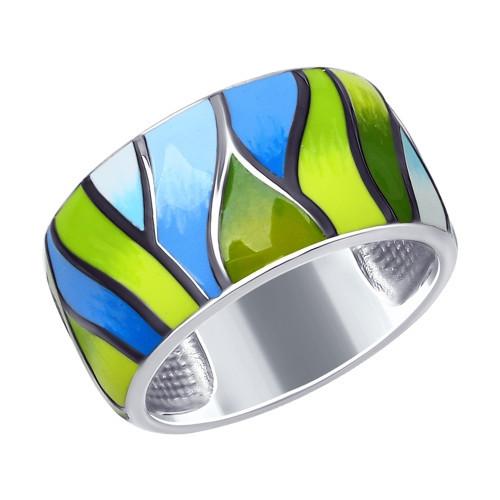 Кольцо из серебра с эмалью SOKOLOV Арт 095