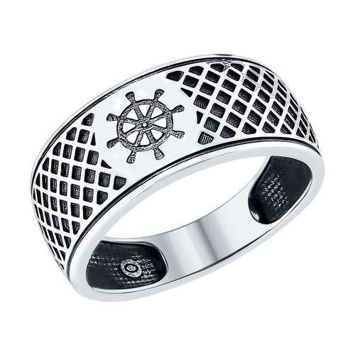 Серебряное кольцо «Штурвал» SOKOLOV Арт 076
