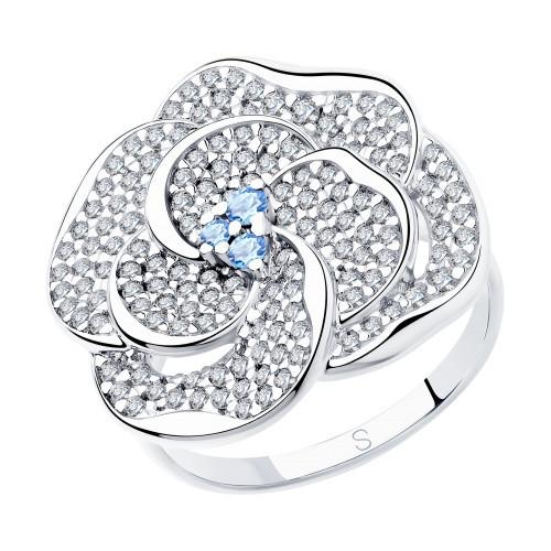 Кольцо из серебра с фианитами SOKOLOV Арт 098