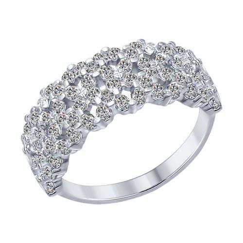 Кольцо из серебра с фианитами SOKOLOV Арт 124