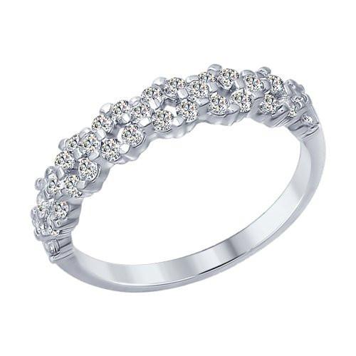 Кольцо из серебра с фианитами SOKOLOV Арт 026