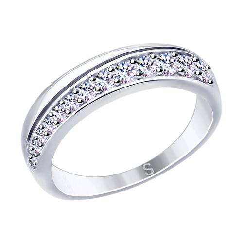 Кольцо из серебра с фианитами SOKOLOV Арт 030