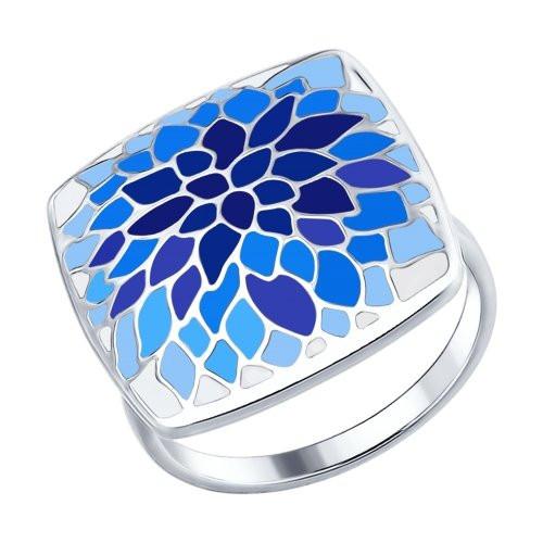 Кольцо из серебра с эмалью SOKOLOV Арт 040