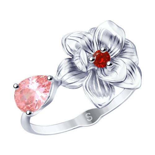 Кольцо из серебра с фианитами SOKOLOV Арт 052