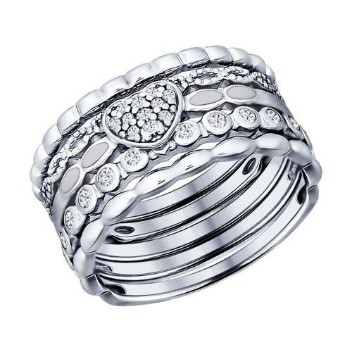 Наборное кольцо с фианитами SOKOLOV Арт 054