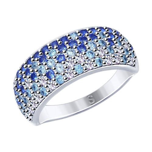 Кольцо из серебра с фианитами SOKOLOV Арт 070