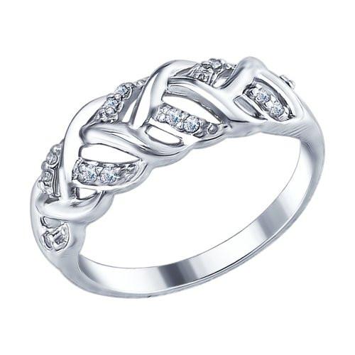 Кольцо из серебра с фианитами SOKOLOV Арт 136