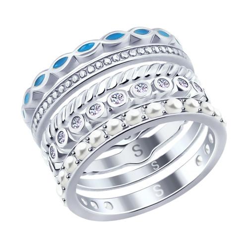 Наборное серебряное кольцо SOKOLOV Арт 225
