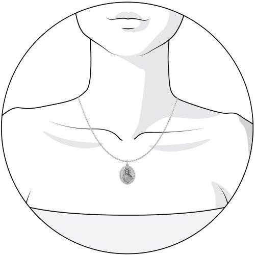 Иконка из серебра с лазерной обработкой с фианитами SOKOLOV Арт 032