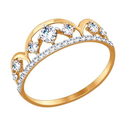 Кольцо из золота с фианитами SOKOLOV арт 007